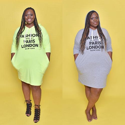 Fashion Plus Hoodie Dress