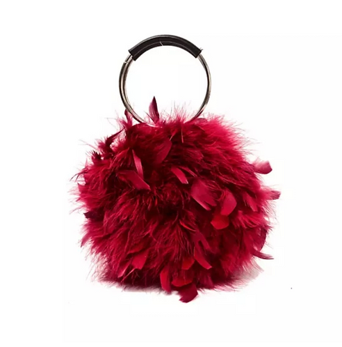 Plush Faux Rabbit Fur Hand/Shoulder Bag  (Multiple Colors)