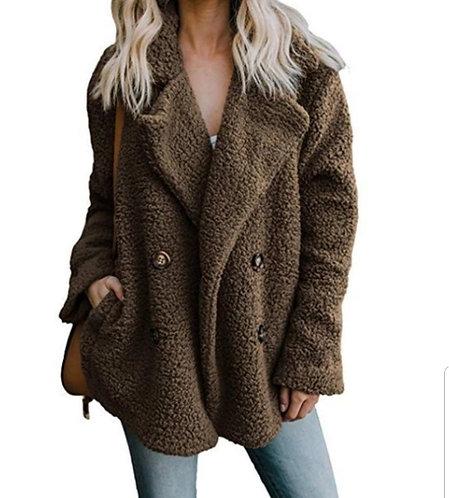 Warm Fleece Pea-coat (Multiple Colors)