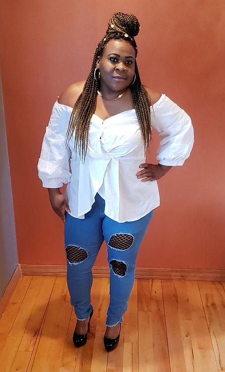Curvy Girl Off Shoulder Blouse