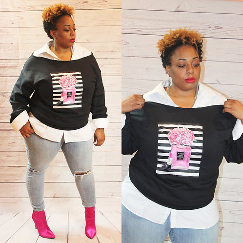 Fashion Icon Off the Shoulder Sweatshirt (Multiple Designs)