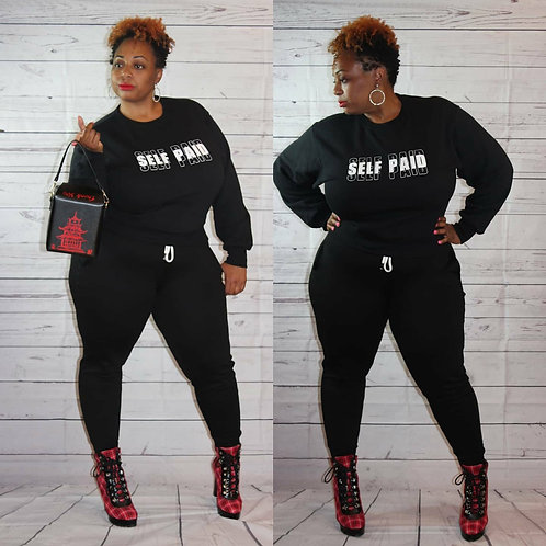Curvy Girl Self Paid Jogger Set
