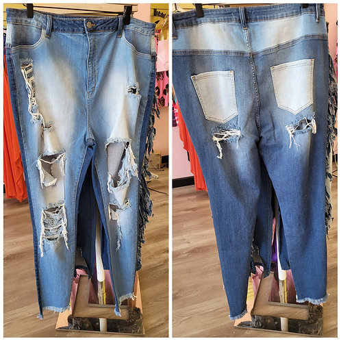 Two-Faced Skinny Jeans