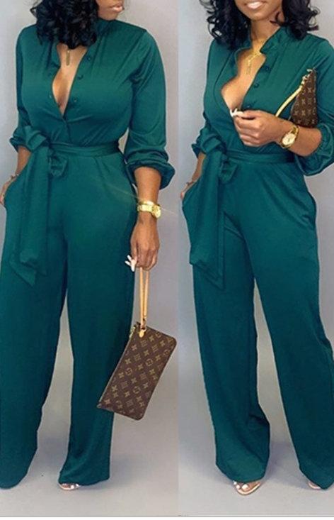 Classy Chic Jumpsuit (Multiple Colors)
