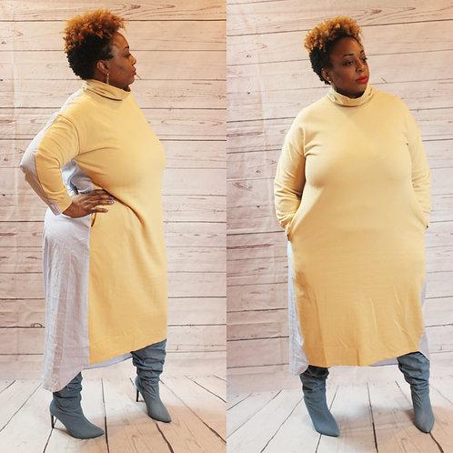 Oversized Sweater Shirt Dress