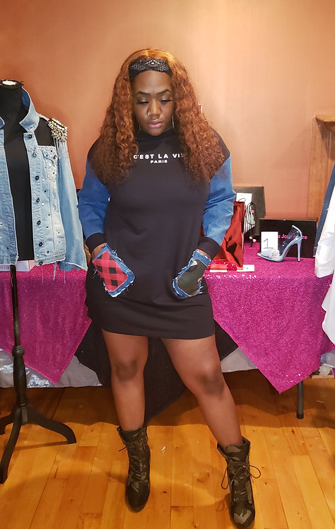 Custom PatchWerk Sweatshirt Dress