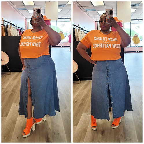 Denim Maxi-Skirt