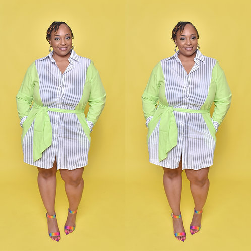 Dainty Pin-Stripe Dress