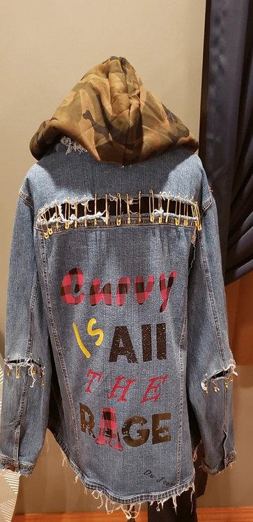 #CurvyPlusGirl Custom Jacket