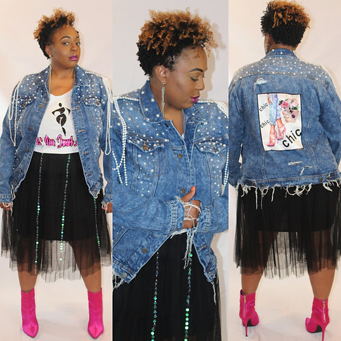 She's #Saddity Denim Jacket (Multiple Designs)