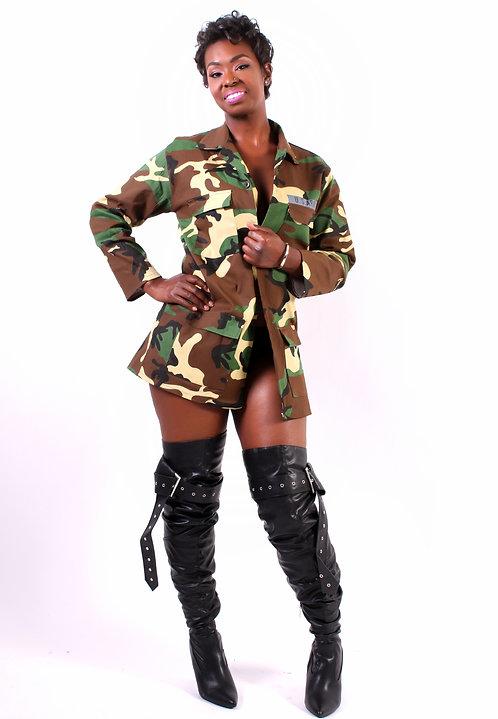 Green Camouflage Coat