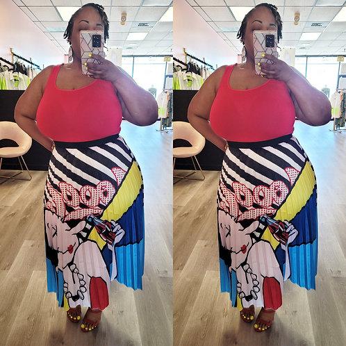 Expressionista Maxi-Skirt