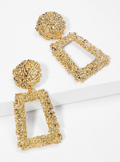 Gold Clustered Drop Earrings