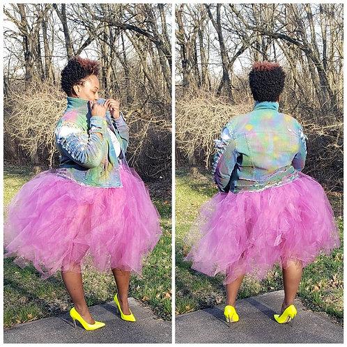 Custom Curvy Girl Feisty Nicety Tulle Skirt