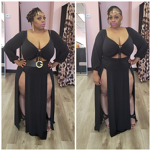 Plus Goddess Maxi-Dress