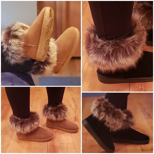 Chic and Furry Warm Booties