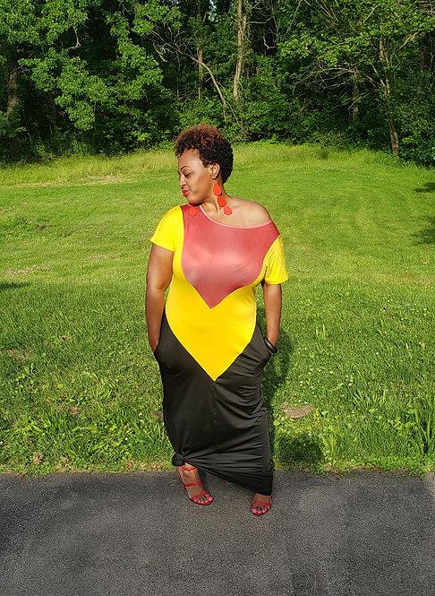 Off Shoulder Maxi Dress