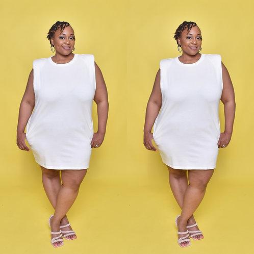 Shoulder Chic Dress
