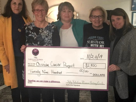 Fifty Fabulous Women Giving Circle presents grant to the Ovarian Cancer Project