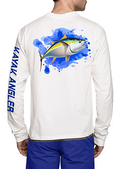 PROYAKER Unisex UPF 50+ Kayak Angler Fishing White Shirt