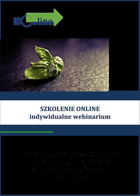 Szkolenie online webinarium Audytor wewnętrzny IFS Food v.7
