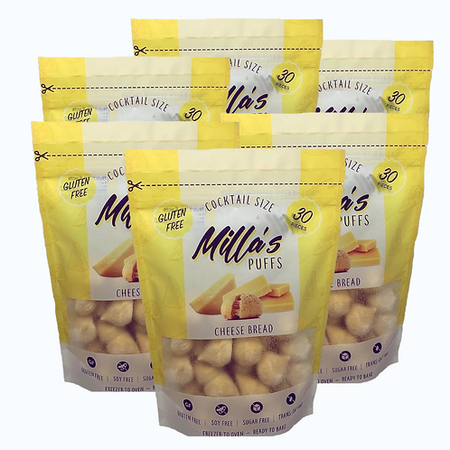 Milla's Puffs Box of 6 Pouches (Original Cocktail Size)