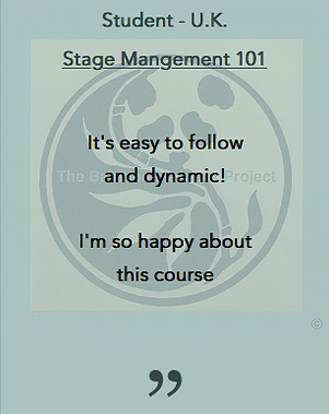 Stage Management 101 The Bamboo Manager Project