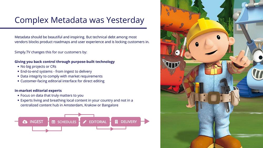 Metadata delivery and metadata ingest illustration