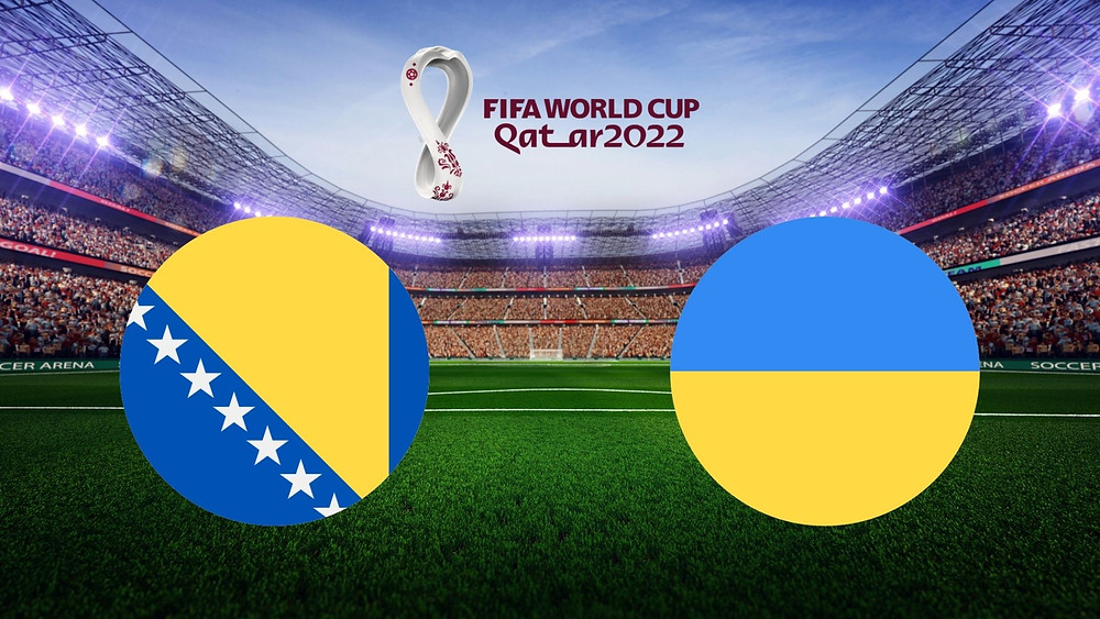 Sports metadata on FIFA World Cup 2022 match between Ukraine and Bosnia and Herzegovina