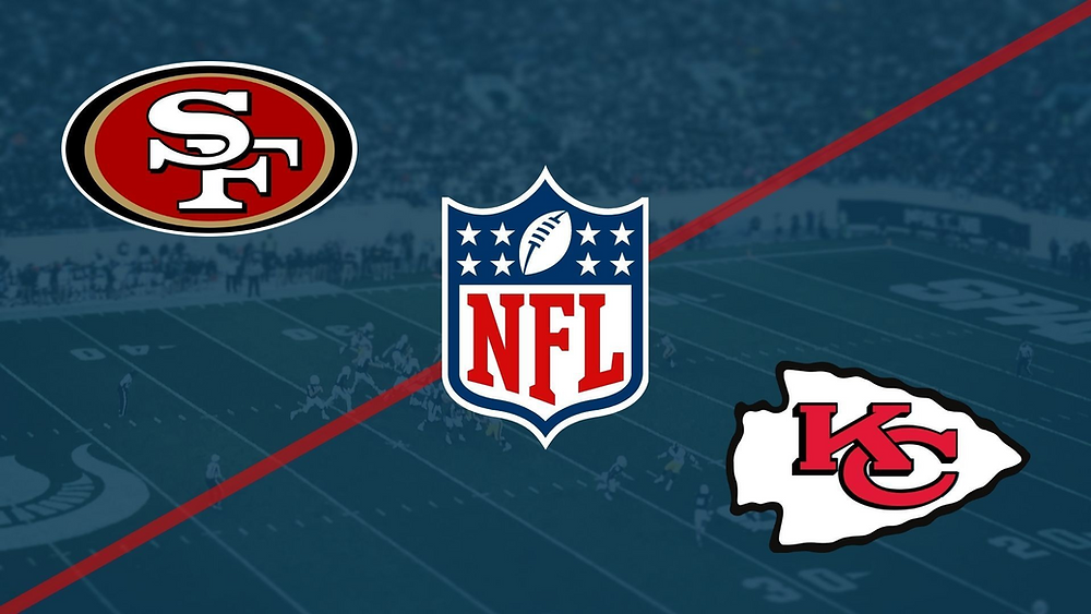 Sports Metadata illustrating composite images, the National Football League, NFL, competition Kansas City Chiefs vs San Francisco 49ers for the Super Bowl 2021