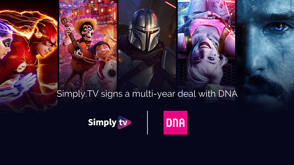 Metadata industry entertainment partnership with Simply.TV and DNA.  Coco, The Flash, The Mandalorian, Harley Quinn