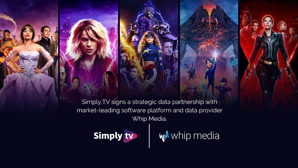 Partnership between metadata provider Simply.TV and Entertainment software platform and data provider Whip Media
