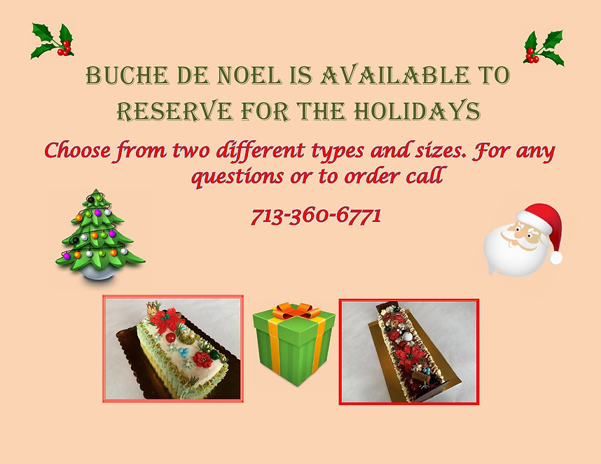 Buche de Noel is available to reserve fo
