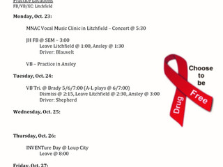Weekly Activities & Events Update 10/23-29, 2017