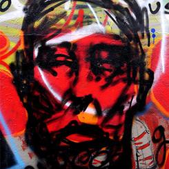Wise Man over Graffiti