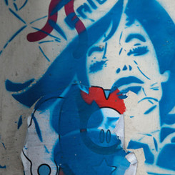 Blue Red Woman
