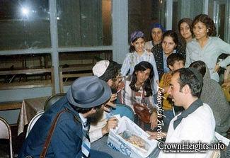 Iranian Refugees with Rabbi Hertzel Illulian