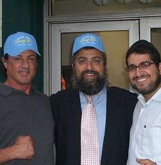 Camp JEM Rabbi Hertzel Levi Illulian and Stallone