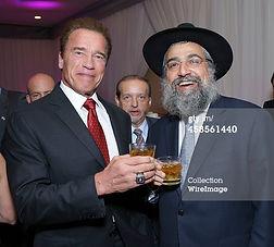 Rabbi Hertzel Illulian Arnold Schwarzenegger
