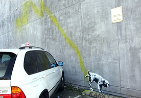 Banksys Art at JEM Community Center Beverly Hills