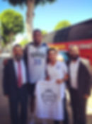NBA Kevin Durant with Rabbi Illulian JEM Community Center