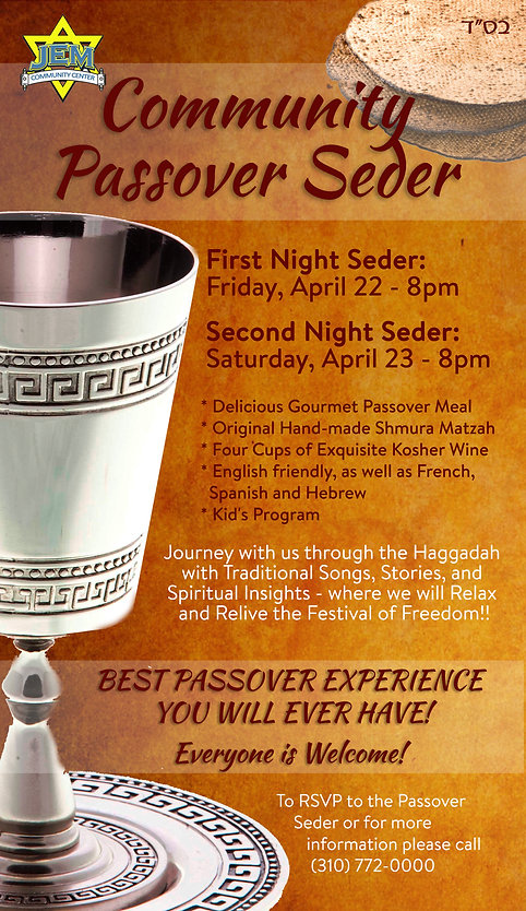 Passover Pesach Seder Los Angeles Community