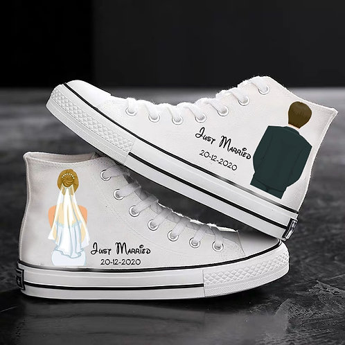 Personalized Canvas Shoes Gift for Wife Husband
