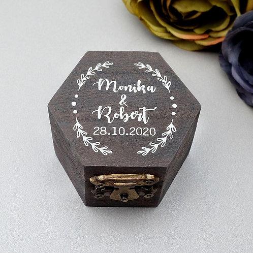 Personalized Wedding Ring Box Wood Engraved Engagement Proposal