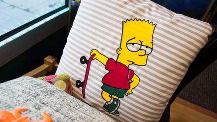 Simpsons sur coussin