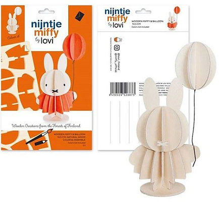 Miffy & Ballon - bois naturel