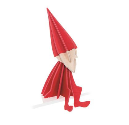 Petit Elfe à barbe - rouge