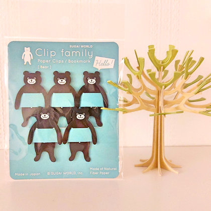 Clips ours brun
