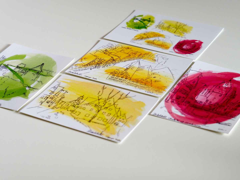 PostkartenSerie Dinkelsbühl Aquarell