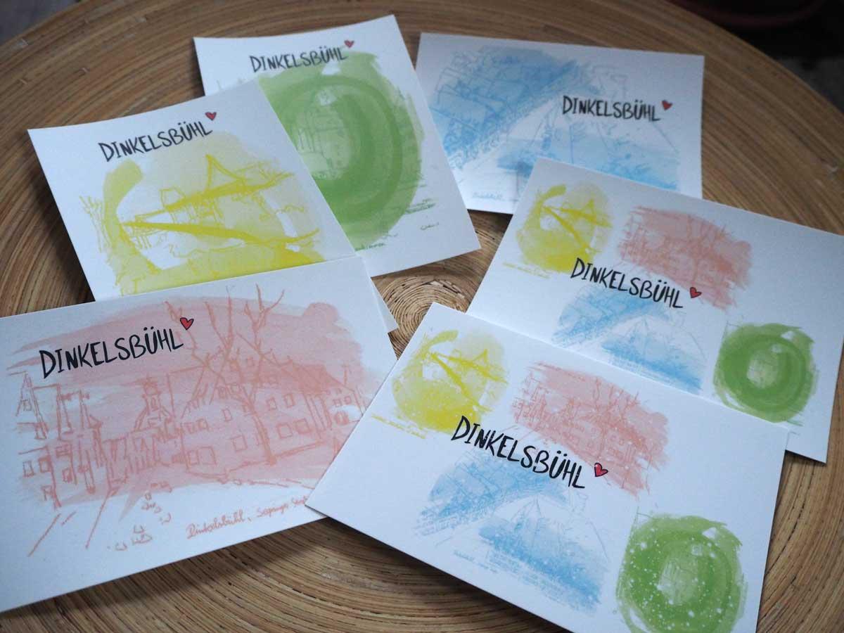 PostkartenSerie PastellDinkelsbühl Aquarell